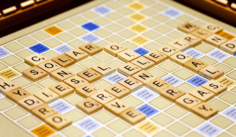 Energy related words spelled out on board game. (Jeffrey Coolidge/Getty) Original Filename: 200551058-001.jpg